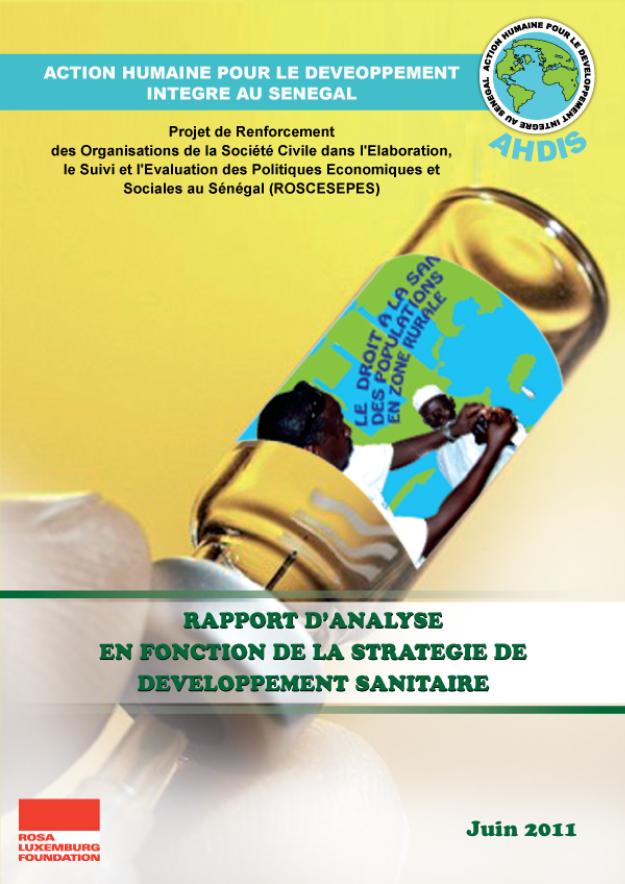 Rapport d'analyse en fonction de la stratégie de développement sanitaire